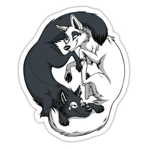 Yin Yang Foxes - Sticker
