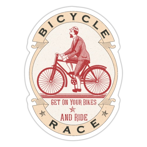 Vintage Bicycle Racer - Sticker