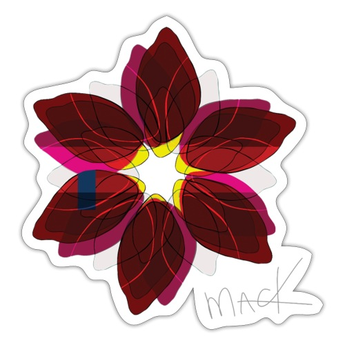 Collage Style Flower - Sticker