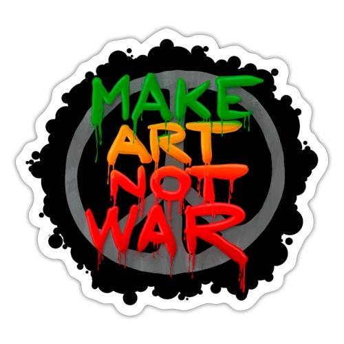 Make Art Not War Sticker - Sticker
