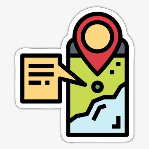 Mobile Map T - Sticker