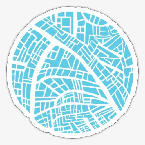 City circle map - Sticker