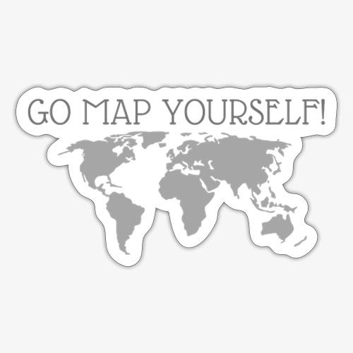 go map yourself - Sticker