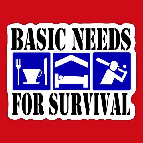 Softball/Baseball Basic Needs - Sticker