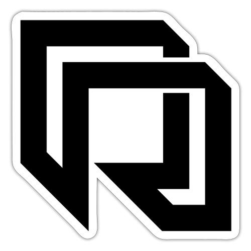 Red Iron Icon (Black) - Sticker