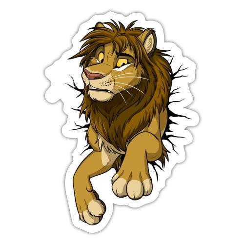 STUCK Lion front Sticker - Sticker