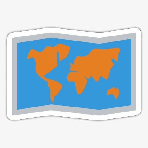 Blue Orange map fold - Sticker
