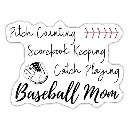 Pitch Counting Scorebook Catch Baseball Mom - Sticker
