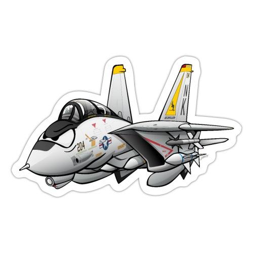F-14 Tomcat Military Fighter Jet Aircraft Cartoon - Sticker