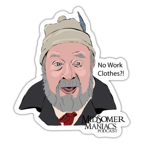 Midsomer Maniacs Podcast - Benbow dark text - Sticker