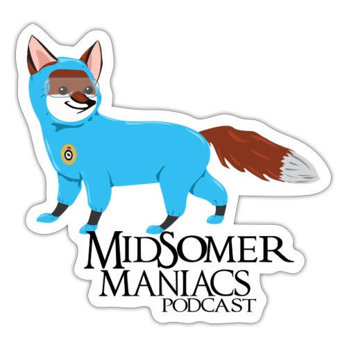Midsomer Maniacs - SOCO Fox dark text - Sticker