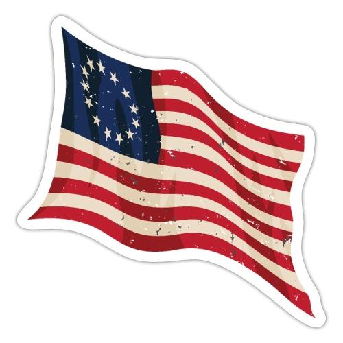 Waving Betsy Ross Flag - Sticker