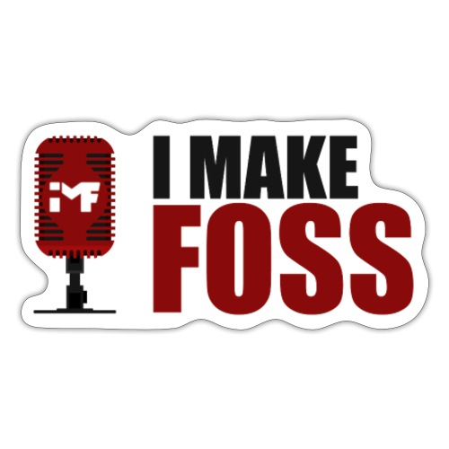 I MAKE FOSS (Red + Black) - Sticker