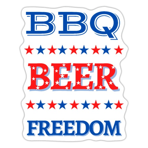 BBQ BEER FREEDOM - Sticker