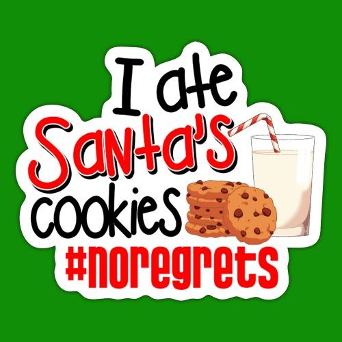 #NoRegrets Santa's Cookies - Sticker