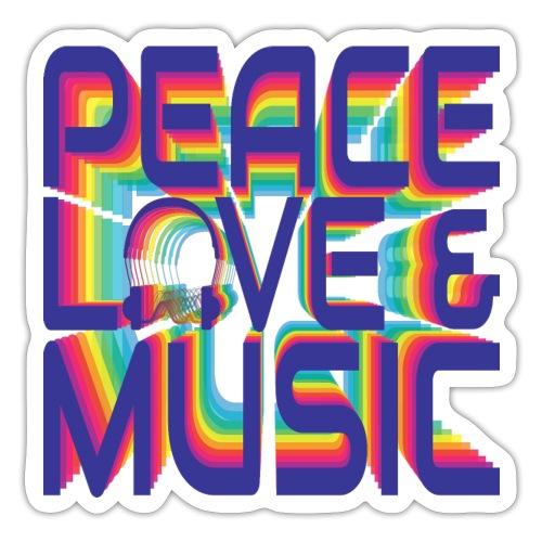 Peace, Love & Music - Sticker