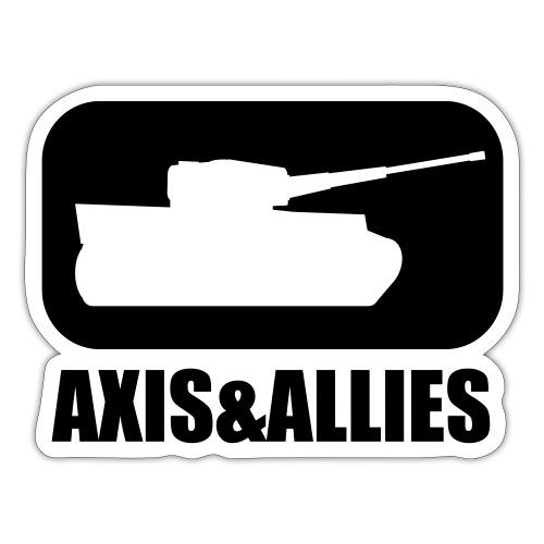 Axis & Allies Tank Logo - Dark - Sticker
