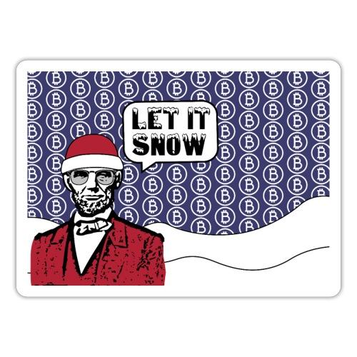 Let it snow bitcoin - Sticker