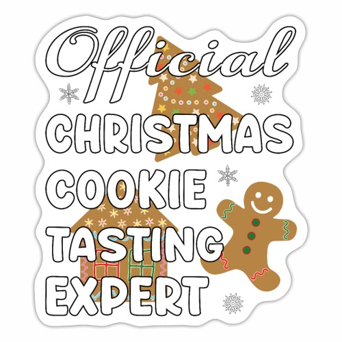 Funny Official Christmas Cookie Tasting Expert. - Sticker