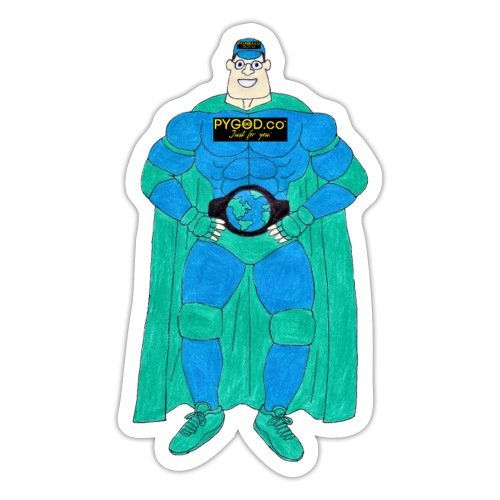 PYGOD Man - PYGOD.co Mascot - Sticker