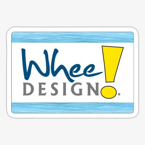 Whee! Design Logo - Sticker