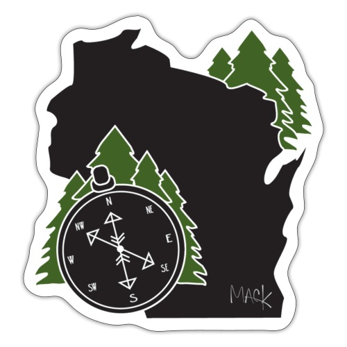 Wisconsin Compass Logo - Sticker
