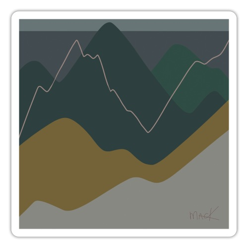 Mountains - Sticker