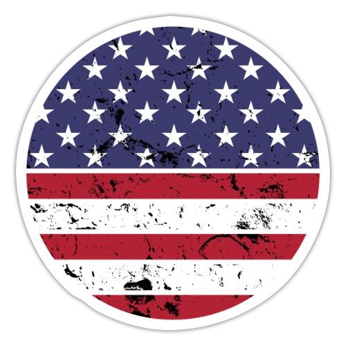 American flag full circle red white blue - Sticker