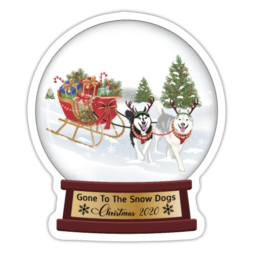 Siberian Husky Snow Globe - Sticker