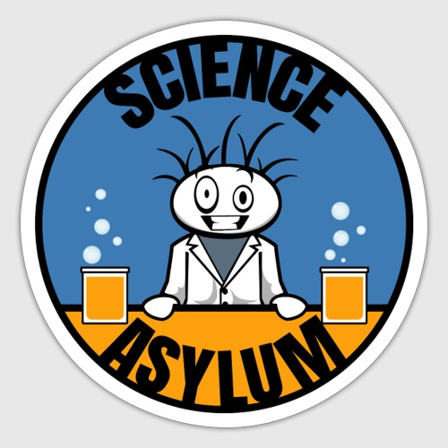 Science Asylum Logo - Sticker