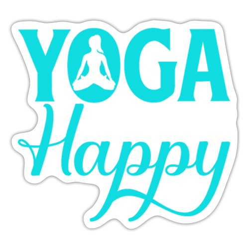 Yoga Makes me Happy - Sticker