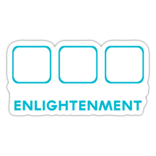 Yoga the Element of Enlightenment - Sticker