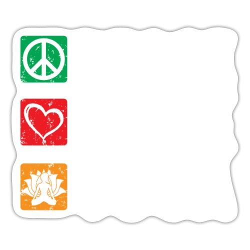 Peace Love Yoga - Sticker