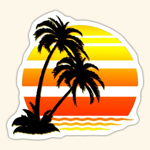 Summer Surfer California Sunset - Sticker