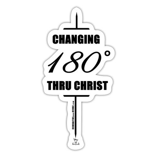 Changement à 180 degrés grâce au CHRIST - Sticker