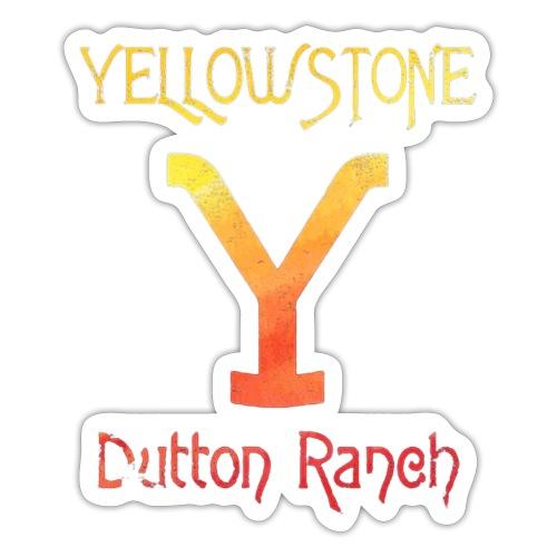 Yellow stone brand logo - Sticker