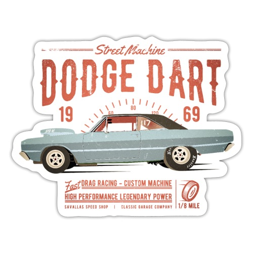 Dodge Dart Dragster Street Machine 1969 - Sticker