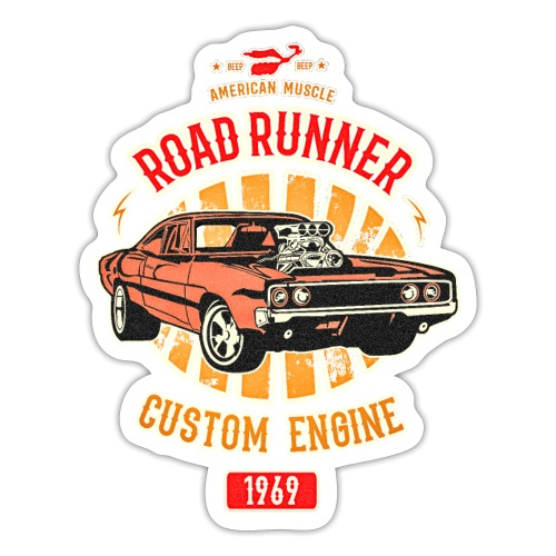 Plymouth Road Runner - American Muscle - Sticker