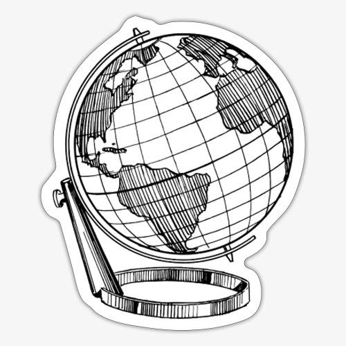 Classic globe - Sticker