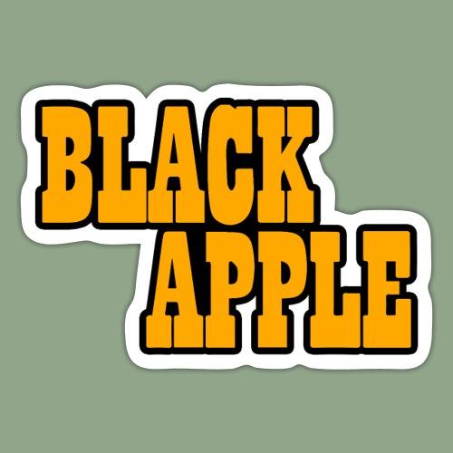 Black Apple Logo - Sticker