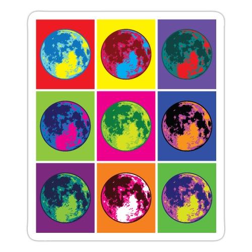 Abstract Retro Moon Art - Sticker