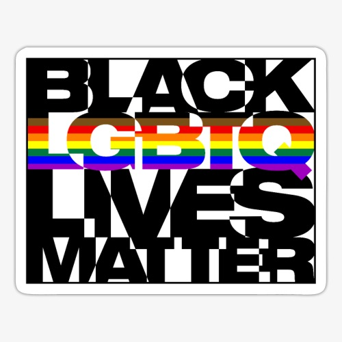 Black LGBTQ Lives Matter - Philly Pride Flag - Sticker