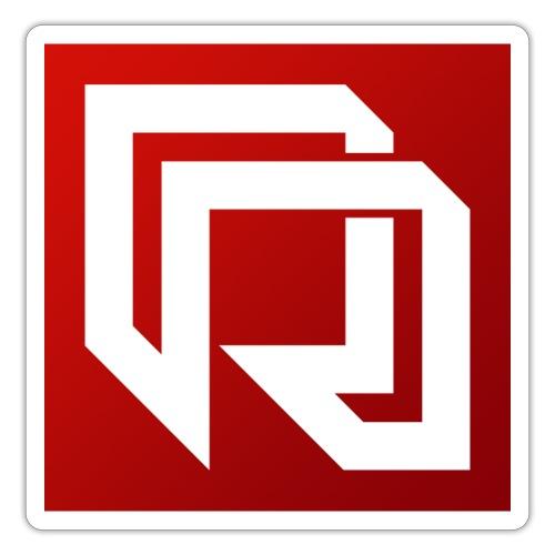 Red Iron Icon (Inverted) - Sticker