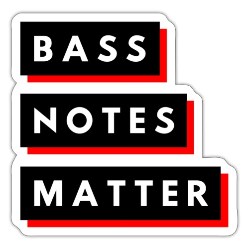 Bass Notes Matter Red2 - Sticker