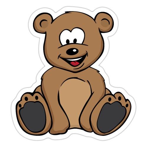 Cute Teddy Bear Cartoon - Sticker