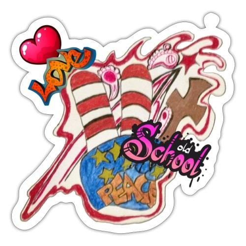 Peace old school - Sticker