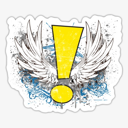 Winged Whee! Exclamation Point - Sticker