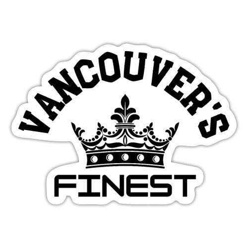 Vancouver's Finest Black Print - Sticker