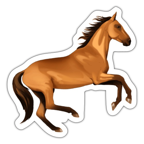 horse riding - Sticker