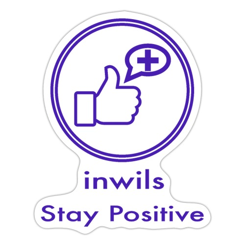 stay positive with inwils - Sticker